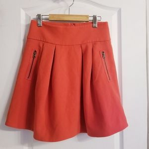Anthropologie Maeve Coral Skirt
